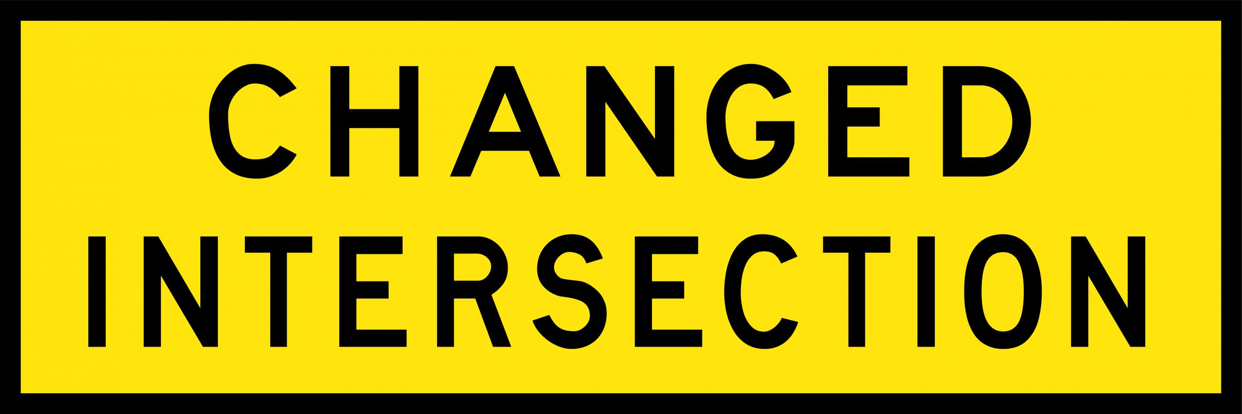 Changed Intersection Signage