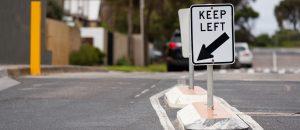 Keep Left with Arrow Signage